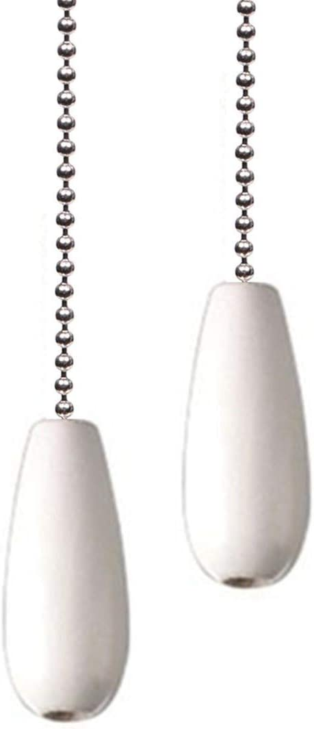 Ceiling Fan Chain Pulls White Wooden Pull Chain Extension for Ceiling Light Fan Chain 2 Pack - -
