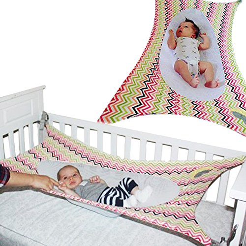 Colorfulworld Multi Style Safety Baby Crib Hammock Hanging Detachable Portable Newborn Baby Sleeping Nursery Beds Cradles (Wavy (Baby Hammock Crib)