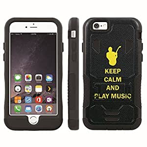[ArmorXtreme] Hybrid Rugged Armor Design Image Protect Case With Kickstand (Keep Calm and Play Music) for Iphone 6 Plus (5.5)