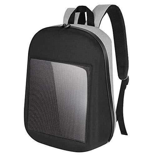 Screen Dynamic Backpack Propaganda Advertising Custom Text School Express Comfortable DIY Backpack Mobile Phone APK Waterproof ()