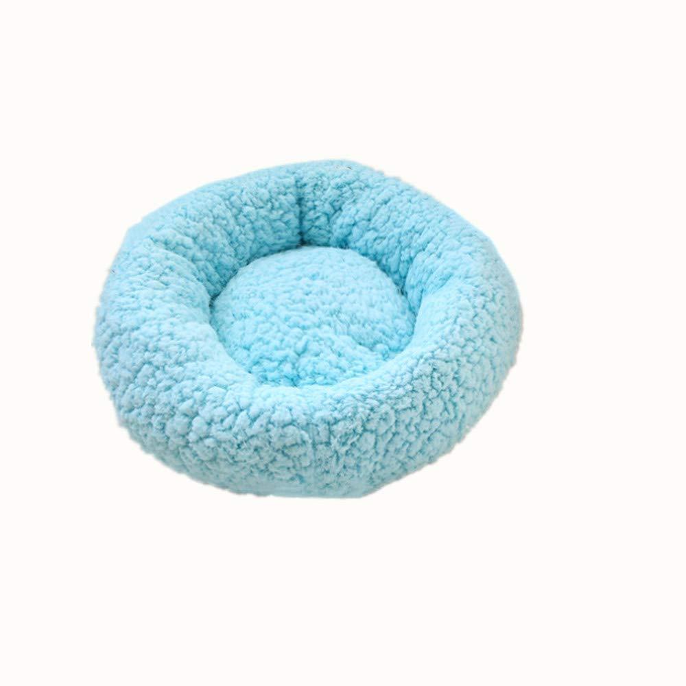 Wuwenw Nido Blu Pet Autunno E Inverno Nuovo Dolce Caramelle colore rossoondo Nido Canile 47X47Cm