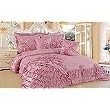 DaDa Bedding BM1227 5-Piece Blooming Comforter Set, Queen Size, Cherry Blossom Pink