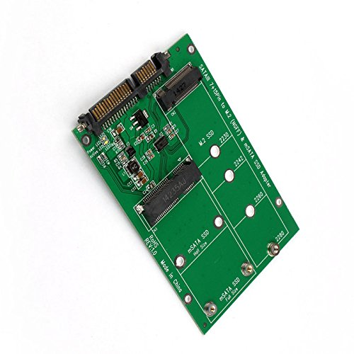 MECHREVO 2-in-1 NGFF M.2 or mSATA SSD to SATA 3.0 Adapter Converter Card, Support Mini SATA Hard Drive or M.2 B Key HDD SSD by MECHREVO (Image #2)'