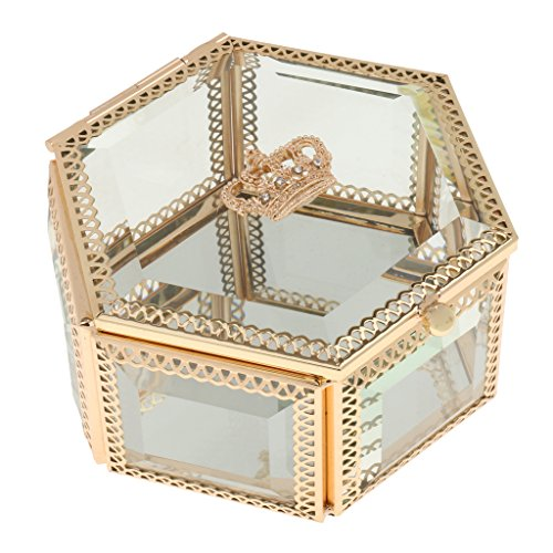 Glasschmuck Ring Ohrring Sechskant Display Halter Speicher Organisator