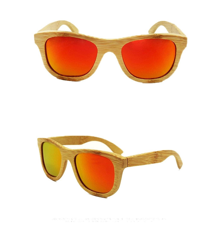 Wayfarer Bambus/Holz Polarisierte Sonnenbrille Vintage Style Unisex Sonnenbrille verspiegelt verschiedene Farben