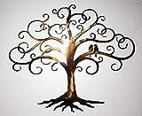 Lovebirds on Decorative Tree of Life 24''