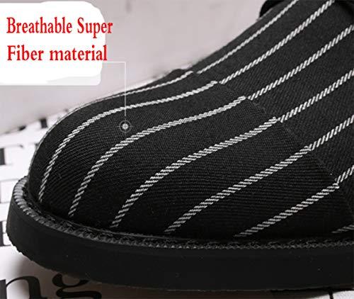 Black 1406 Scarpe Derby A 5000 Britannica Strisce Da Tonda Moda Uomo A Casual Scarpe Stringate Testa Di rr5aq