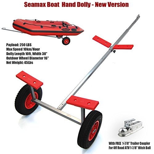 Buy Seamax Portable Boat Carry and Launch Hand Dolly Set with 16 Pneumatic Wheels