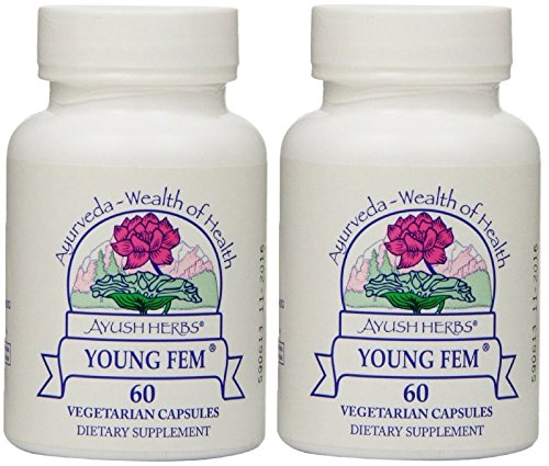 Ayush Herbs Young Fem Herbal Supplement, 60 Count (2) by Ayush Herbs