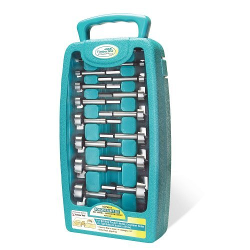 (Timberline 670-160 Forstner Bit Set with Hex Shank, 16-Piece by Timberline)