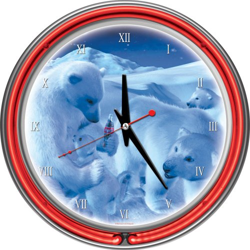coca cola polar bear clock - 2