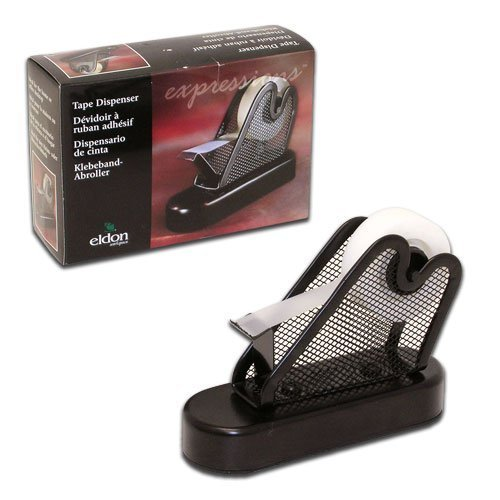 Eldon Expressions Black Mesh Desk Top Heavy Duty Tape Dispenser