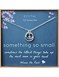 New Mom Gifts, Sterling Silver Necklace for Mother and Baby Girl/Boy, Mother's Day Jewelry Gift Ideas