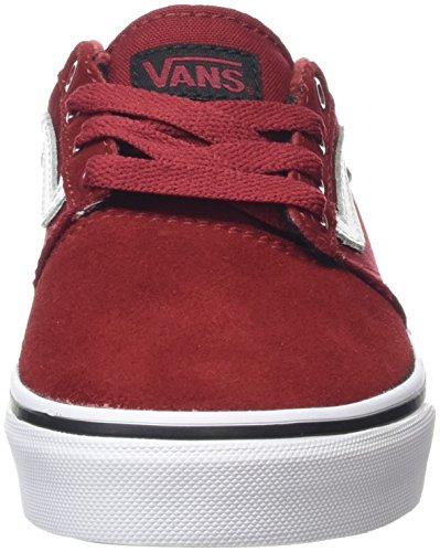 Vans Chapman Stripe, Zapatillas Unisex Niños Rojo (Varsity Red/Black)