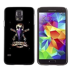 Be Good Phone Accessory // Dura Cáscara cubierta Protectora Caso Carcasa Funda de Protección para Samsung Galaxy S5 SM-G900 // Gangster Skull Headscarf Guns Black