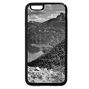 iPhone 6S Case, iPhone 6 Case (Black & White) - beautiful wide river between mountains