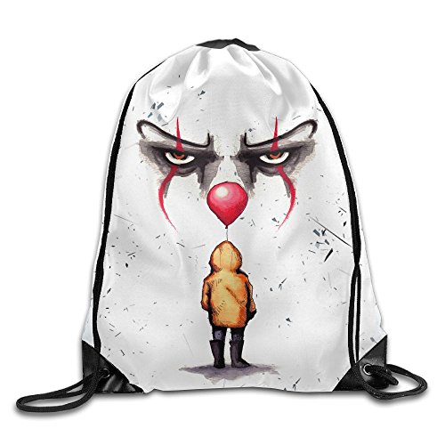 MissMr Pennywise Belt Sports Backpack,Fashion Trend, Polyester Sports Bag,Net Red Part,Men's Handbag,Ladies,Teenager,Adult,Outdoor Work,Office,Lunch Box