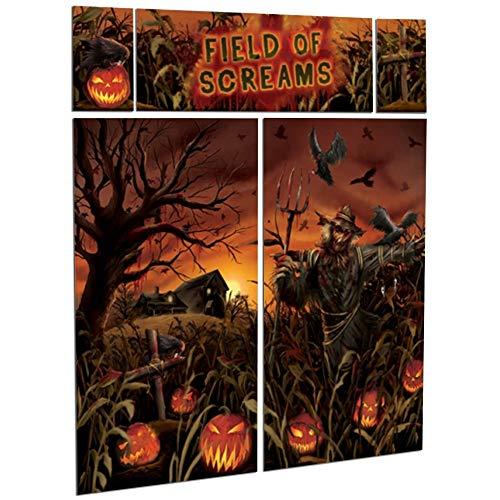 Pumpkin Field of Screams Halloween Party Scene Setter Wall Decorating Kit ()