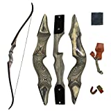 """SinoArt 60"""" Takedown Recurve Bow Archery Right Handed Riser Bow for Hunting Target Shooting 30-60Lbs"""