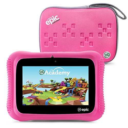 LeapFrog Epic Academy Edition 7'' Android 2.0 Based Kids Tablet 16GB with Carrying Case, Pink by LeapFrog