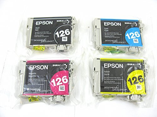 Genuine Epson 126 Ink Cartridges 4 pack in Original Bulk Packaging for Epson Stylus NX330 NX430 Workforce 60 435 520 545 630 633 635 645 840 845 WF-3520 WF-3540 WF-7010-WF-7510 WF-7520