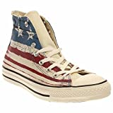 Converse Mens Chuck Taylor All Star US Flag Print Chili Paste/Atlantic/Egret Sneaker - 3 Men - 5 Women