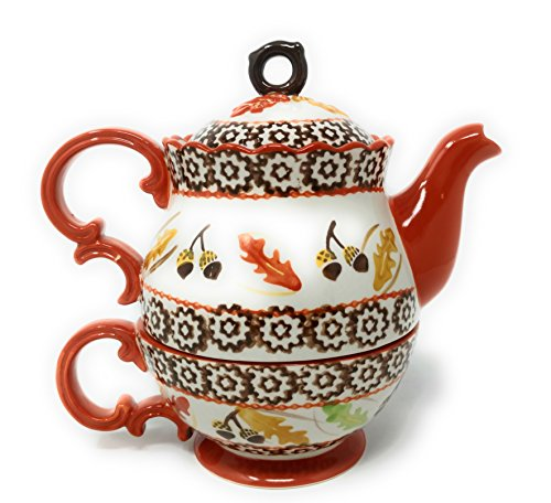 Temp-tations Tea for One - Teapot and Cup in One - Old World Harvest