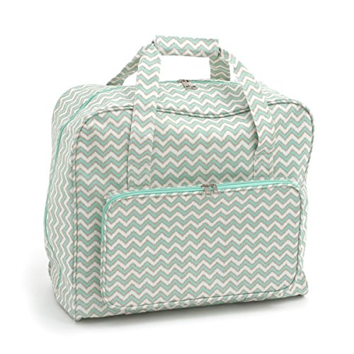 Hobby Gift 'Scribble Chevron - Mint Green & Gold' Sewing Machine Bag 20 x 43 x 37cm (d/w/h)