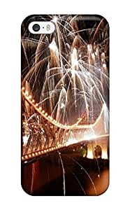 Premium Fireworks Over A Bridge Back Cover Snap On Case For iphone 6 plus