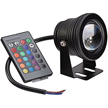 Led Underwater Lights Led Lamps Strict 16colors 10w Dc 12v Underwater Rgb Led Light Spot Lights Waterproof Ip65 Fountain Pool Lamp Lights Change+ir Remote Controller