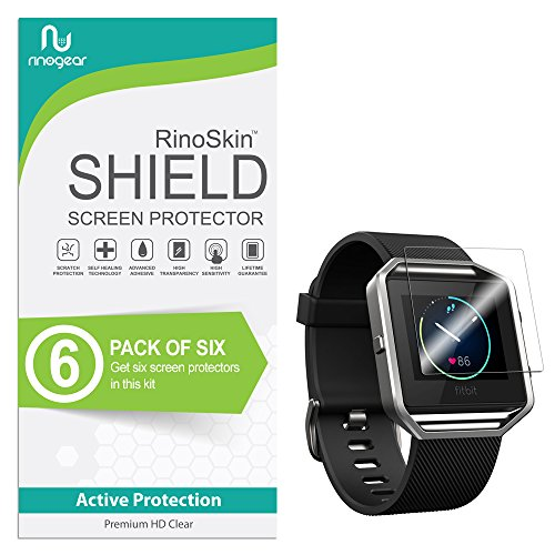 [6-Pack] RinoGear for Fitbit Blaze Screen Protector Case Friendly Screen Protector for Fitbit Blaze Accessory Full Coverage Clear Film