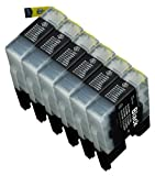 6 Pack Compatible with Brother LC-71 , L...