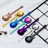 TableRe 7 Pack Guitar Spoons | Stainless Steel Musical Coffee Spoon Ice Cream Teaspoon