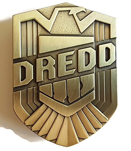 Judge Dredd Pin Badge Metal (Bronze Tone) NEW