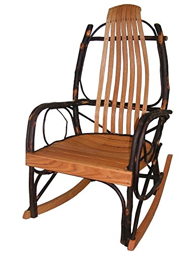 amazon com amish bentwood rocker hickory oak garden outdoor rh amazon com Early American Antique Rocking Chairs Amish Outdoor Rocking Chairs
