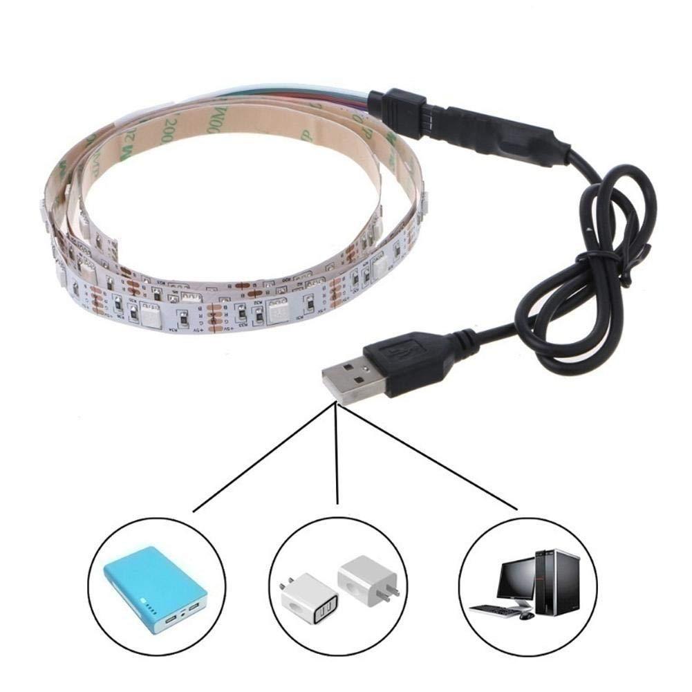 ZHIXX MALL Auto Innenbeleuchtung Atmosph/äre Licht,5V 1A USB Auto Streifen Licht LED Leuchten Innenraumbeleuchtung f/ür Auto,KFZ,LKW Innenraum Zubeh/ör//Interior Dcoration,Auto Zierleiste 1 m