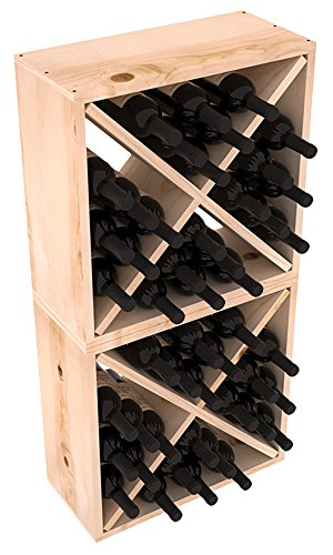 Wine Racks America Rustic Pine 48 Bottle Value Cube. 13 Stains to Choose From! For Sale