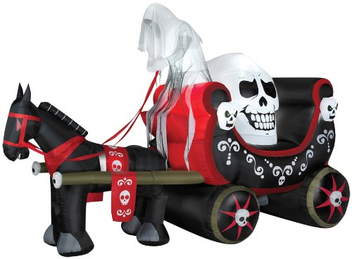 AIRBLOWN ANIMATED SKULLY WAGON HALLOWEEN PROP Gemmy Yard Decoration House Scary - SS63739G (Animated Hex)