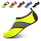 JOINFREE Women's Men's Kid Aqua Beach Outdoor Water Shoes Swim Footwears for Boating Yoga Bevel Green Large