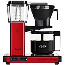 Technivorm Moccamaster KBG 59618 10-Cup Coffee Brewer with Glass Carafe, Red Metallic