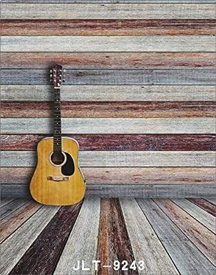 Guitarra de madera de vinilo photography Fondo Para Estudio De ...