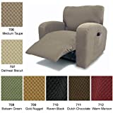 Recliner Chair Cover Stretch Pique Warm Maroon 712