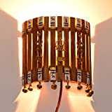 ExclusiveLane Handcrafted Warli & Dhokra Art Wall Lamp - Lamps for Living Room Night Lamps Indoor Lighting Wall Light Wooden Modern Wall Lamp for Bedroom for Study Table