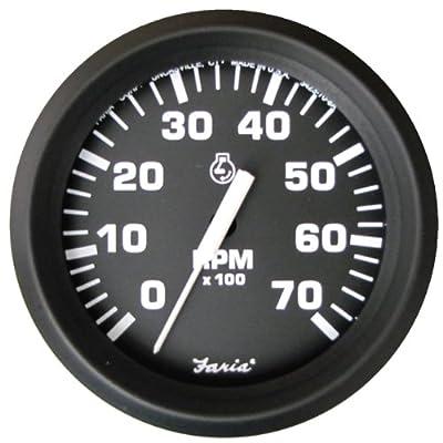 Faria 32805 Euro 7000 rpm Tachometer,Black: Automotive