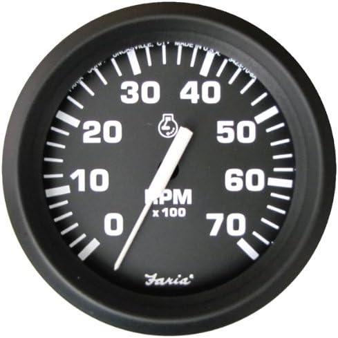 7000 rpm Marine Boat Tachometer (RPM Gauge) [Faria] Picture