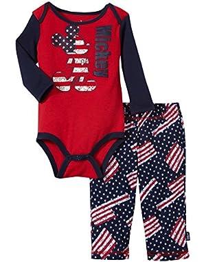 Baby Boys' Mickey Creeper Pant Set (Baby)