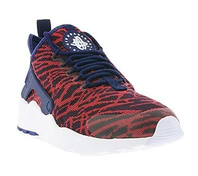Nike Womens Air Huarache Run Ultra Kjcrd Running Trainers 818061 Sneakers Shoes (UK 7 US 9.5 EU 40.5, Loyal Blue University Red 400)