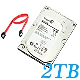 Mbangde 2TB Surveillance Hard Disk Drive SATA 6Gb/s 64MB Cache 3.5-Inch Internal Bare Drive with SATA Cable