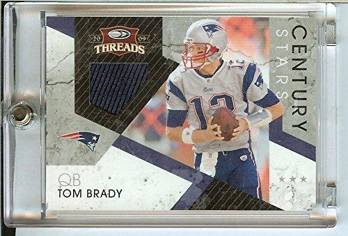 Football NFL 2009 Threads Century Stars Materials #17 Tom Brady MEM /250 Patriots by Threads