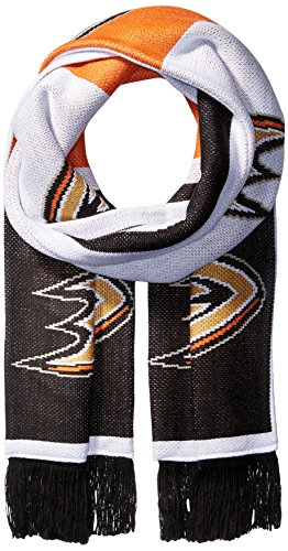 NHL Pittsburgh Penguins SP17 Repeating Logo Jacquard Scarf, Black, One Size